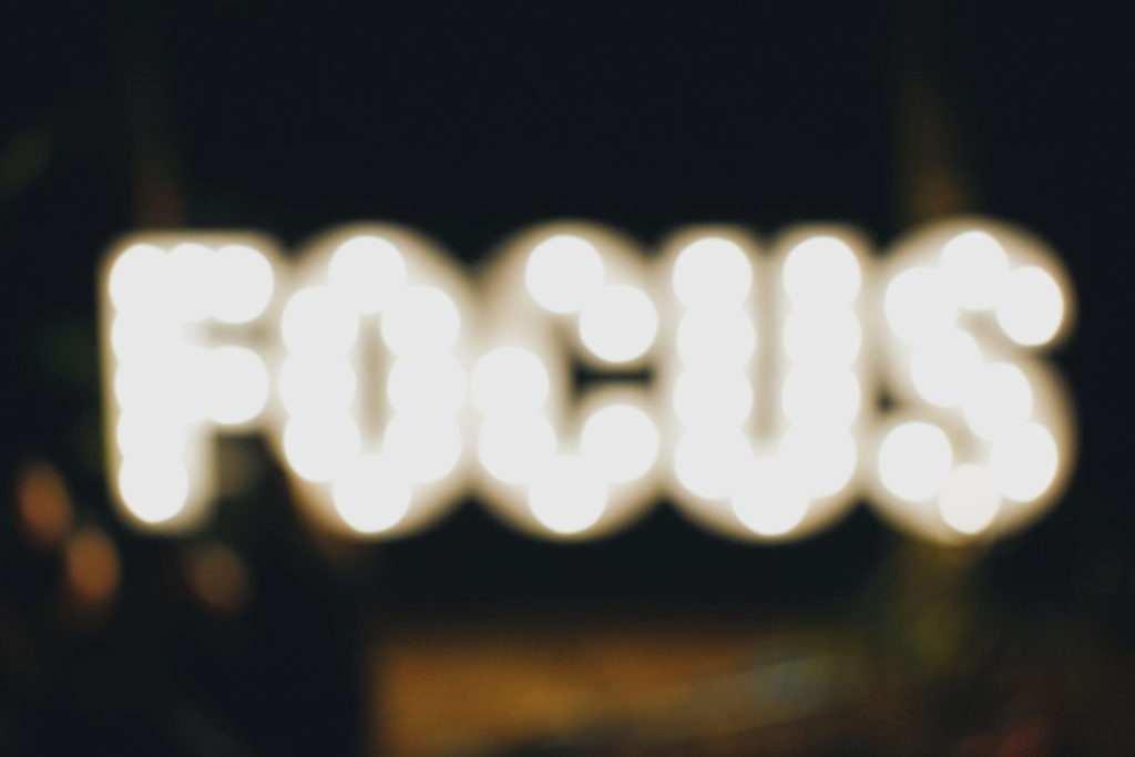 "the word ""focus"""