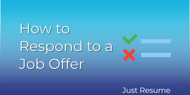 How to Respond to a Job Offer