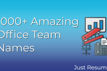 1000+ Amazing Office Team Names