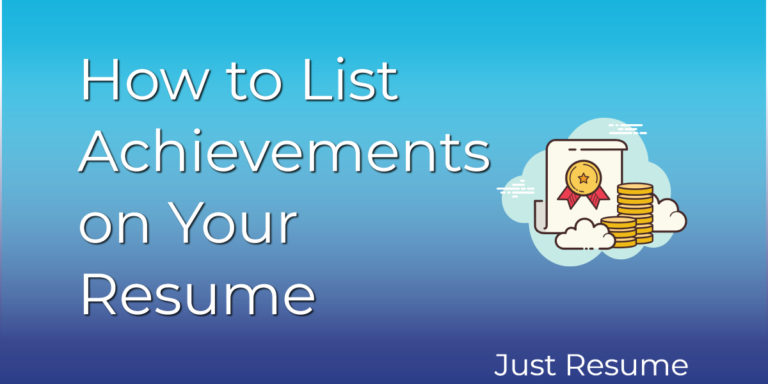 How to List Achievements on Your Resume